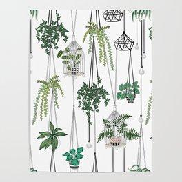 hanging pots pattern Poster