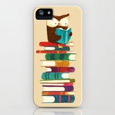 Owl Reading Rainbow Slim Case iPhone SE