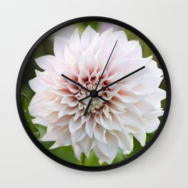 Cafe Au Lait Dahlia Buds and Bloom Wall Clock