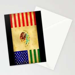 MEXICAN AMERICAN FLAG - 017 Stationery Cards