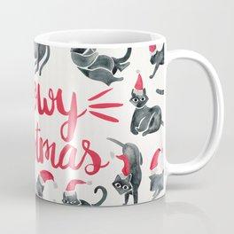 Meowy Christmas – Red & Black Coffee Mug