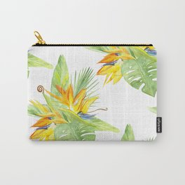 watercolor seamless pattern bird of paradise Carry-All Pouch