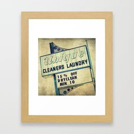 Unique Laundry Sign Framed Art Print