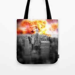 New York on Fire Tote Bag