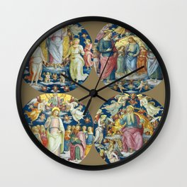 "Raffaello Sanzio da Urbino ""Ceiling Of The Stanza Dell Incendio Del Borgo"" Wall Clock"