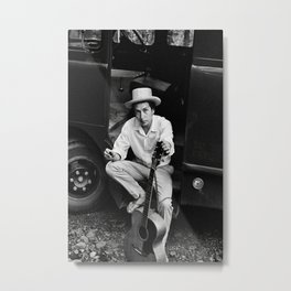 Bob Dylan Poster, Music Photo, Singer Poster, Vintage Photo, Black and White, Home Decor, Housewarming,Digital Prints Metal Print
