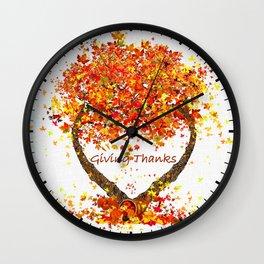 Giving Thanks Wall Clock