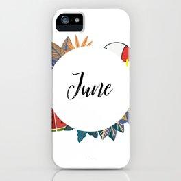 June Bullet Journal iPhone Case