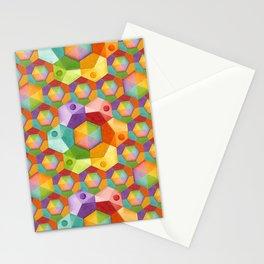 Rainbow Hexagons Stationery Cards