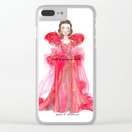 Scarlet O'hara: Haters Gonna Hate by Joshua B. Wichterich Clear iPhone Case
