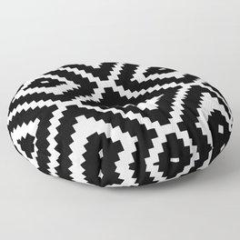 Monochrome Ikat Diamond Pattern Floor Pillow