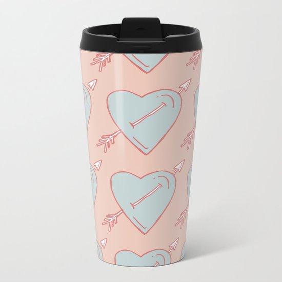 LOVE IS LOVE IS LOVE Metal Travel Mug