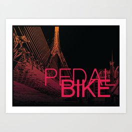 PedalBoston Art Print