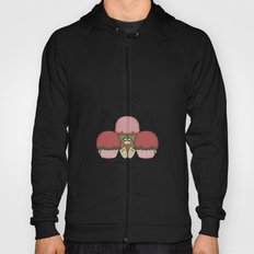 Cute Monster With Red And Green Frosted Cupcakes Hoody