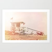 "bruno mars Art Prints featuring Bruno Mars ""Billionaire"" Video Lifeguard Tower by SoCal Chic Photography"
