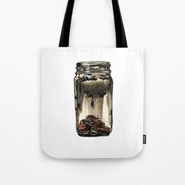 Mason Jar With Pennies Tote Bag