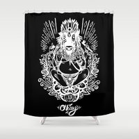ganesh Shower Curtains featuring West Ganesh by C.E.Frusher