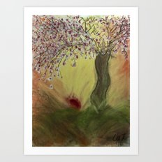 Cherry Blossom Tree of Mine, Our Rising Sun Art Print