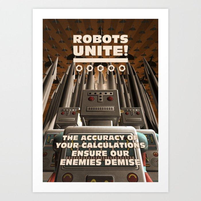 Robots Unite Art Print