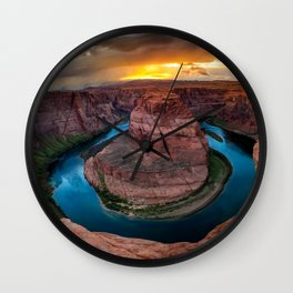 USA Crafts of Colorado Nature Canyon mountain Lake Clouds canyons Mountains Wall Clock
