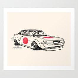Crazy Car Art 0177 Art Print
