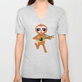 Sloths rock Unisex V-Neck