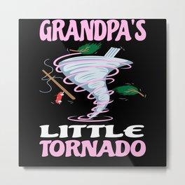 Grandpa's Little Tornado Childrens Storm Metal Print