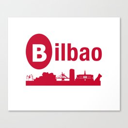 Bilbao, home of the Guggenheim and Athletic in Spain Canvas Print