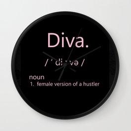 I'm A Diva Wall Clock