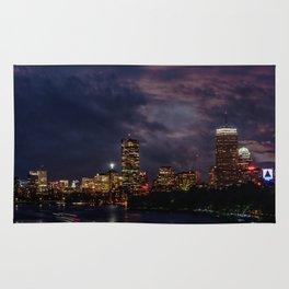 Boston at night Rug