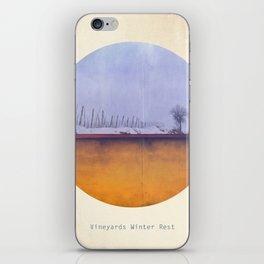 Vineyards Winter Rest iPhone Skin