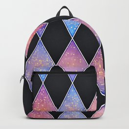 Abstract rich geometric pattern with glitters Backpack