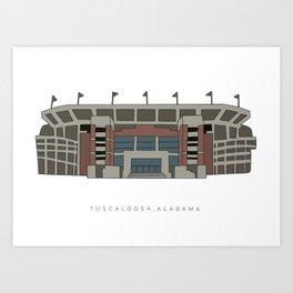 Bryant Denny stadium Art Print