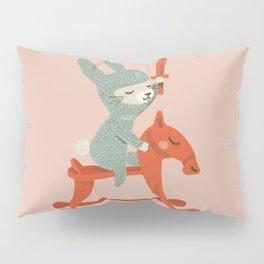 Rabbit Knight Pillow Sham