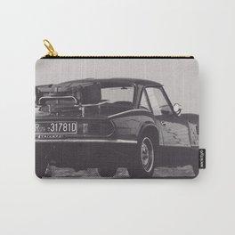 Supercar details, british triumph spitfire, black & white, high quality fine art print, classic car Carry-All Pouch