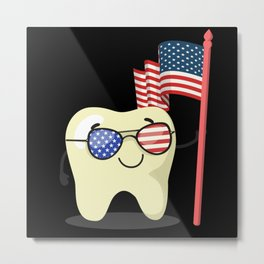 4th of july, 4th of july dental, 4th of July tooth Metal Print