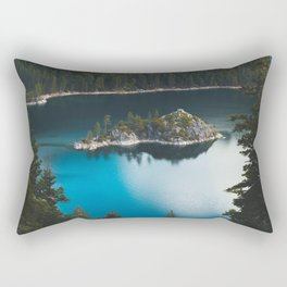 Fannette Island in Emerald Bay - Lake Tahoe, California Rectangular Pillow