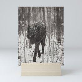 Snow Wolf Mini Art Print