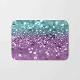 Aqua Purple MERMAID Girls Glitter #2 #shiny #decor #art #society6 Bath Mat