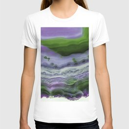 Purple and Green Agate T-shirt