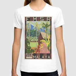 Vintage poster - Malaya T-shirt