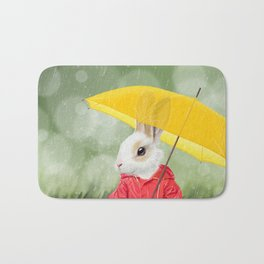 It's raining, little bunny! Bath Mat