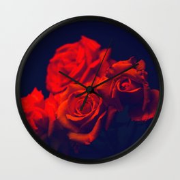 Awesome Fantastic Corsage Red Roses Close Up Ultra HD Wall Clock