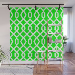 Grille No. 3 -- Lime Wall Mural