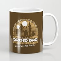 bar Mugs featuring Droid Bar by Doodle Dojo