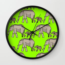 The elephants walk in two by two. Hurray! Hurray! Wall Clock