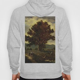 The Pathway Home 1885 By David Johnson | Reproduction | Romanticism Landscape Painter Hoody