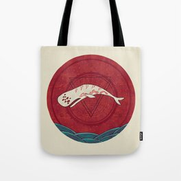 The Devil Roams These Waters Tote Bag
