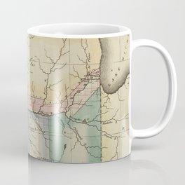 Vintage Map of Illinois (1823) Coffee Mug