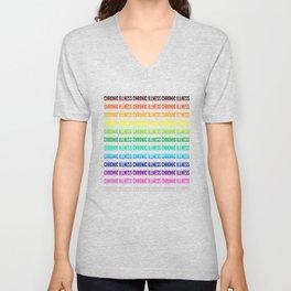 Chronic Illness Rainbow Unisex V-Neck